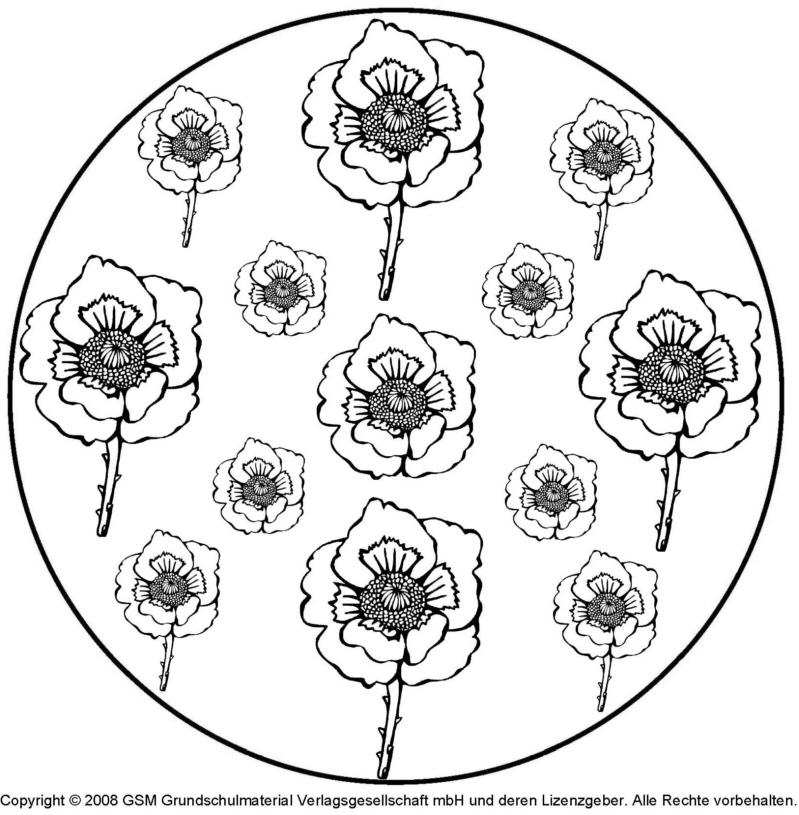 Blumen mandala 8