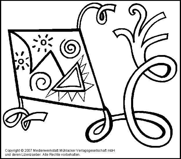 ausmalbild drachen 4  medienwerkstattwissen © 20062017