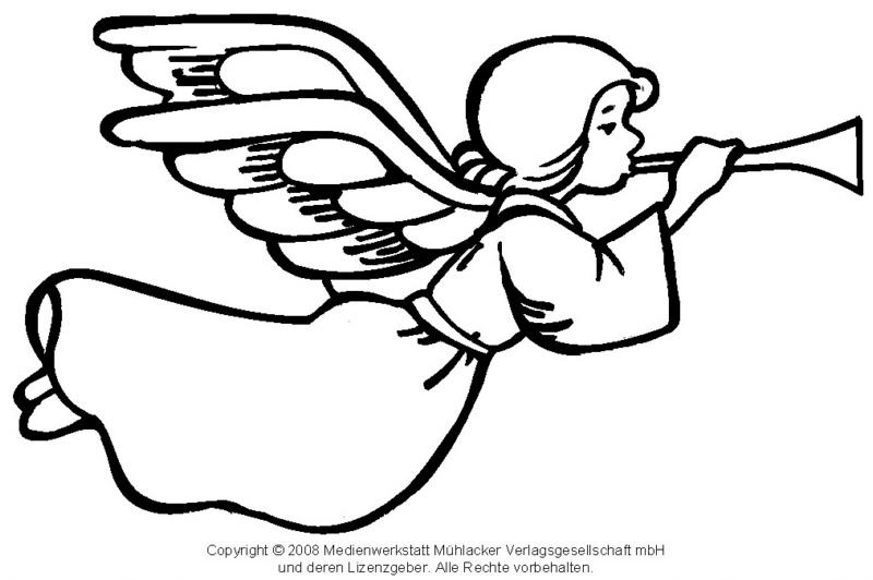 Zum Ausmalen: Engel 1 - Medienwerkstatt-Wissen © 2006-2015 ...