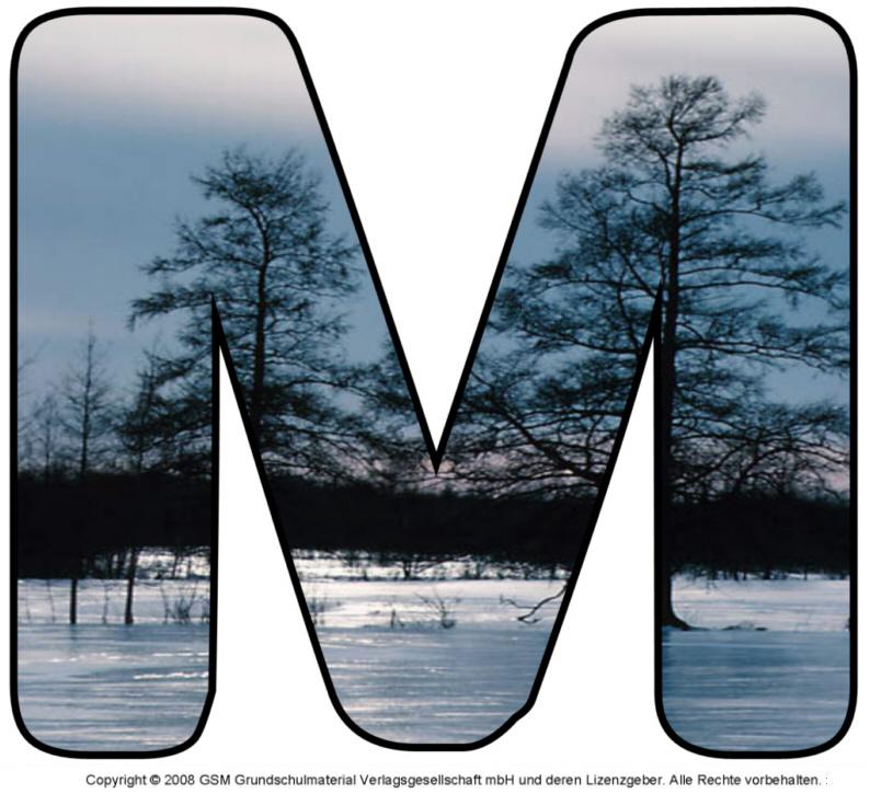 Winter-Deko-Buchstabe M - Medienwerkstatt-Wissen © 2006-2015 ...: medienwerkstatt-online.de/lws_wissen/vorlagen/showcard.php?id=18367...