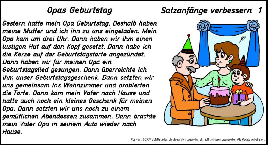 Deutsch 4 Klasse  Grundschule  Klassenarbeitende