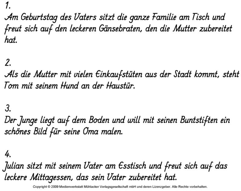 Arbeitsblatt Vorschule deutsche sätze bilden : Aus Satzteilen Su00e4tze bilden 6 - Lu00f6sung - Medienwerkstatt-Wissen u00a9 2006-2017 Medienwerkstatt