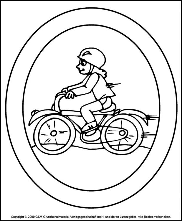 fensterbild  radfahrer
