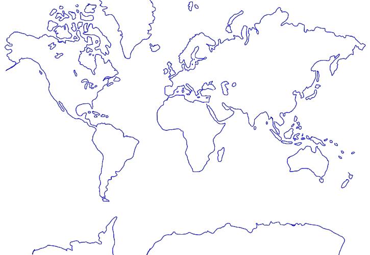 Welt Umrisskarte