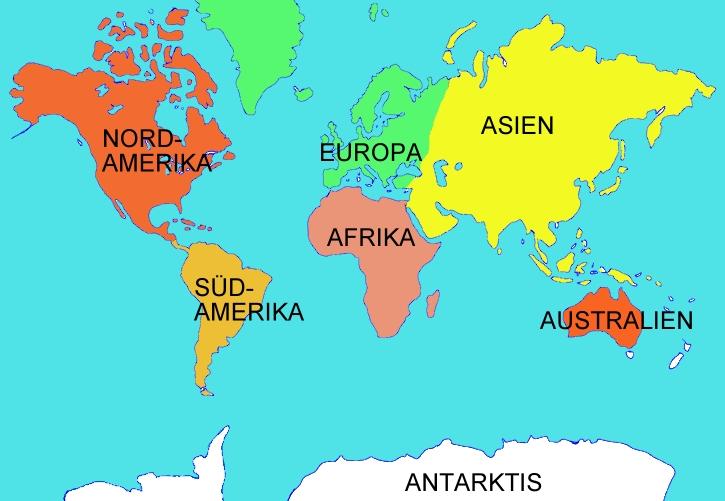 Download weltkarte kontinente ozeane