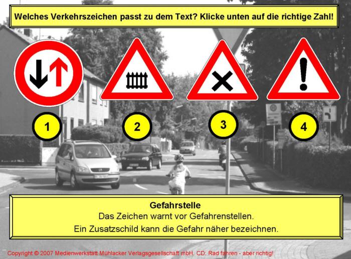 die wichtigsten verkehrszeichen für die fahrradprüfung