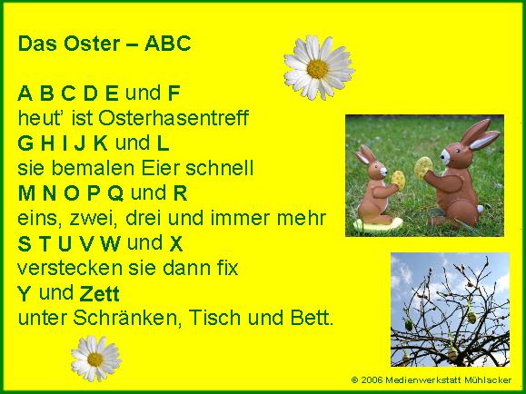 Ostergedicht Oster Abc Erklärung