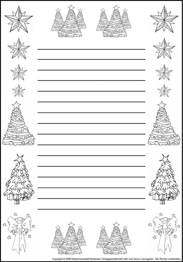 Arbeitsblatt Meine Weihnachtsferien : Schmuckblätter zum ausmalen medienwerkstatt wissen