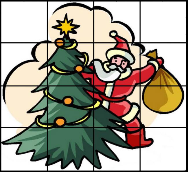 weihnachts puzzle karte 2 medienwerkstatt wissen 2006. Black Bedroom Furniture Sets. Home Design Ideas