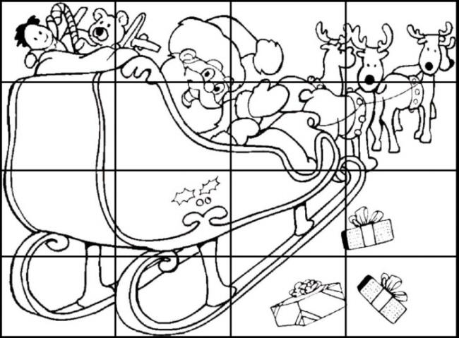 weihnachts puzzle karte 3 medienwerkstatt wissen 2006. Black Bedroom Furniture Sets. Home Design Ideas