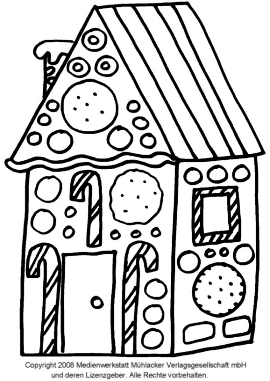 ein lebkuchenhaus zum ausmalen und basteln  1
