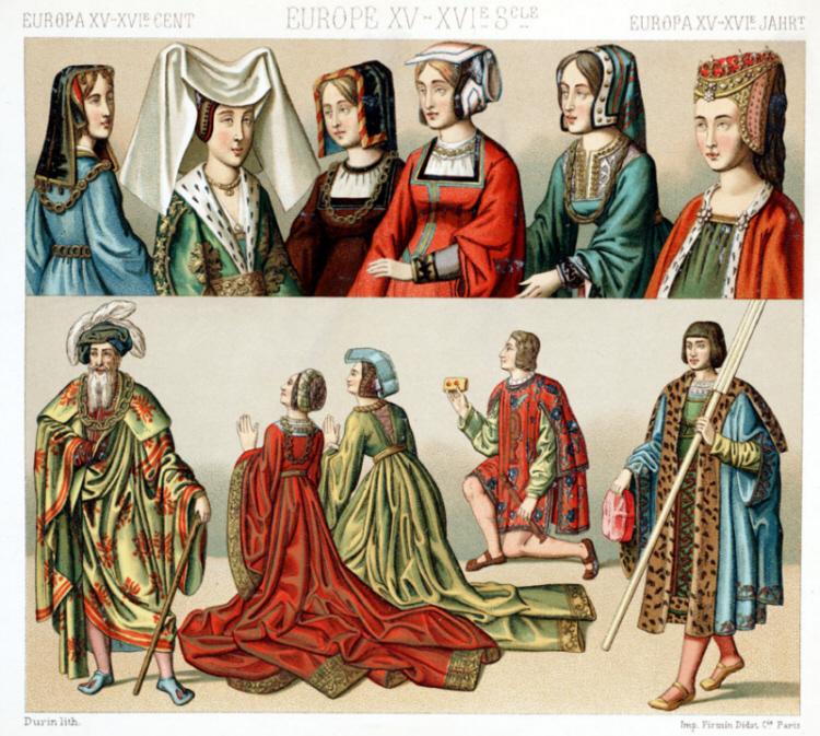 Mode und Kleidung im 15. und 16. Jahrhundert in Europa - Abbildungen 1 ...: https://medienwerkstatt-online.de/lws_wissen/vorlagen/showcard.php...