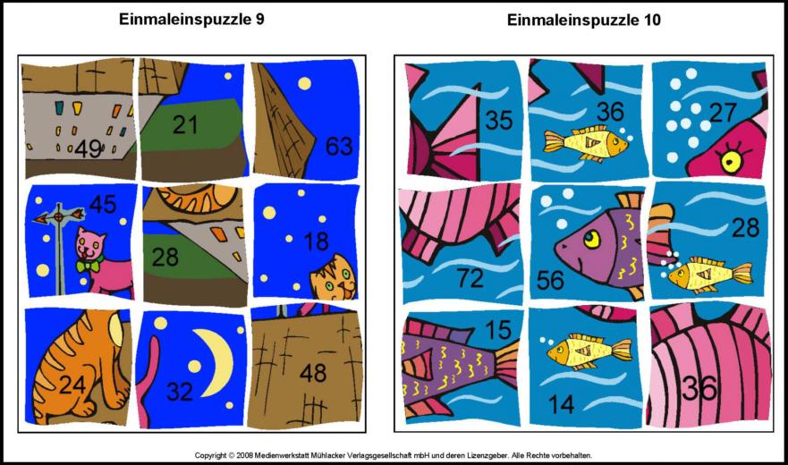 Einmaleins-Puzzle 5B - Medienwerkstatt-Wissen u00a9 2006-2017 Medienwerkstatt