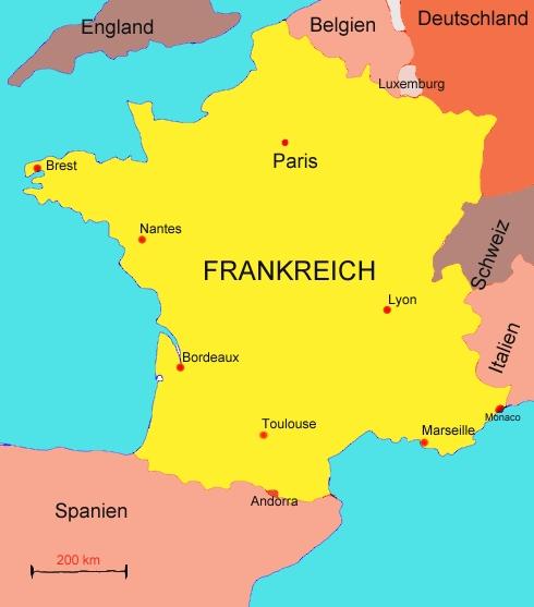 Landkarte von Frankreich   Medienwerkstatt Wissen  u00a9 2006 2017 Medienwerkstatt