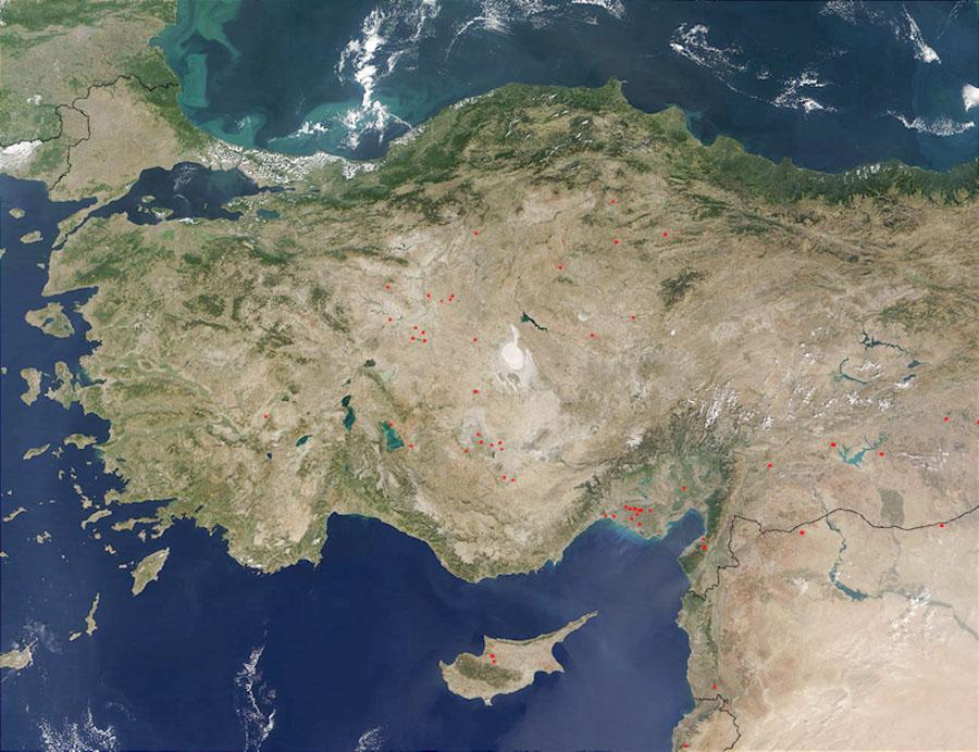 Satellitenaufnahme der türkei