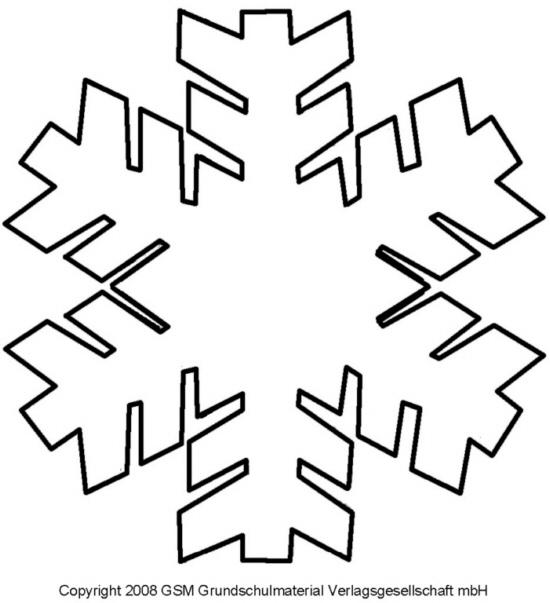 schablone für schneeflocke - 3 - medienwerkstatt-wissen