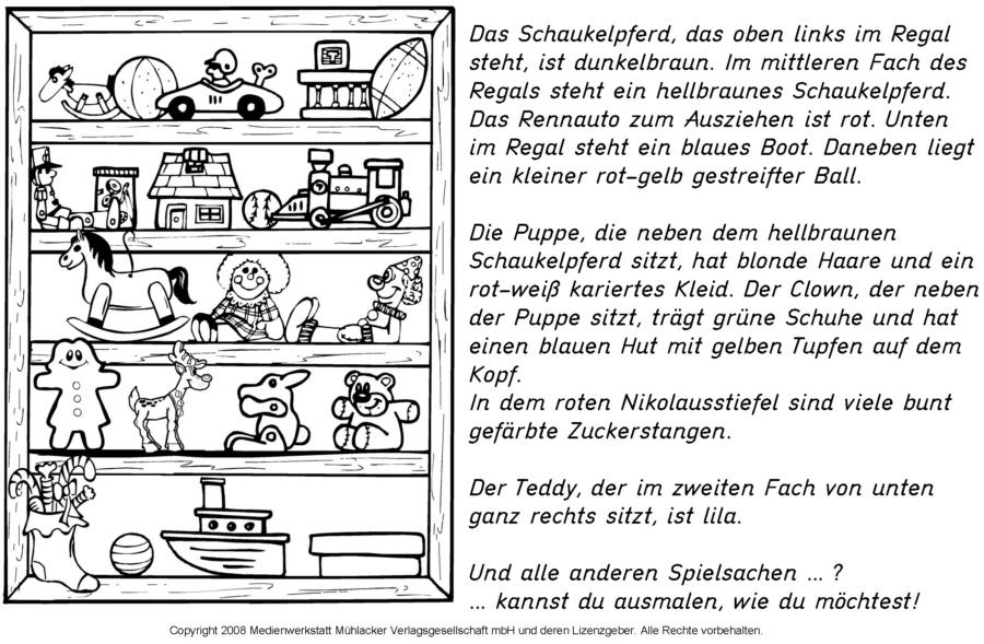 lesen und malen spielzeugregal vom weihnachtsmann