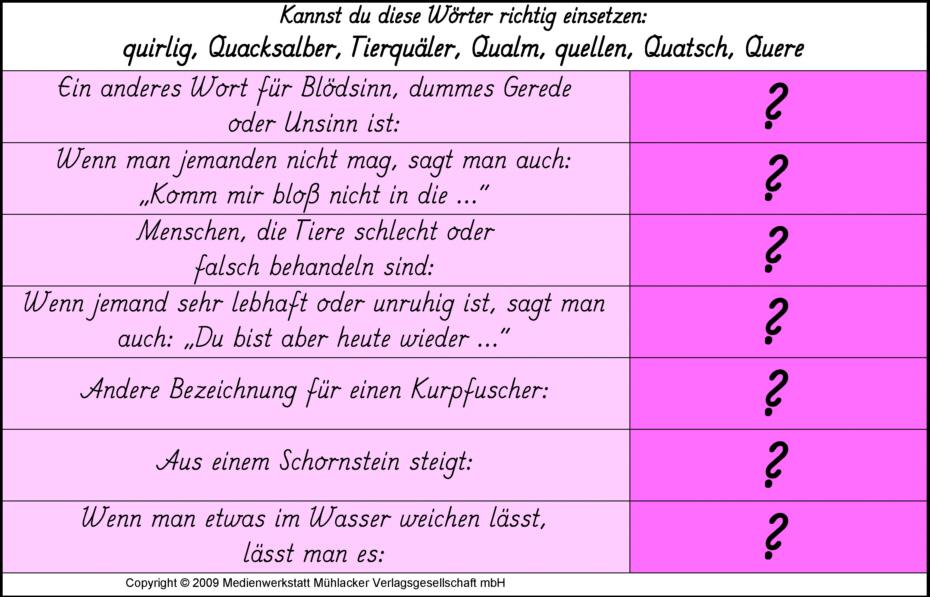 Wörterrätsel Kostenlos