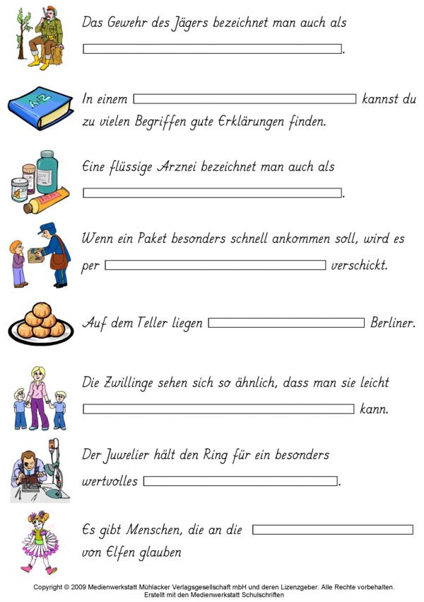 Klasse 1 deutsch bild