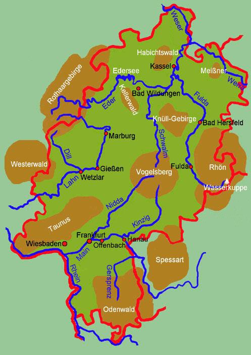 Arbeitsblatt Hessen Gebirge Flüsse : Hessen allgemein medienwerkstatt wissen