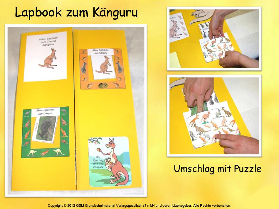 Ein Lapbook zum Thema Tiere erstellen - 2 ...